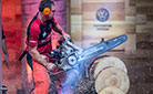 Mitch Hewitt med sin Hot Saw ved VM STIHL Timbersports 2017
